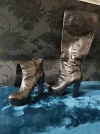 Nine West Size 5 Leather Boots