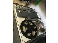 Old reel to reel tape machine