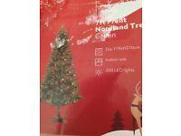 7 foot tall prelit nordland tree