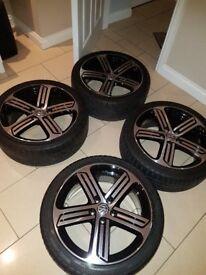 "VW Golf R Cadiz 18"" alloy wheels genuine VW brand"