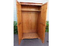 Solid pine two door wardrobe *can deliver