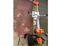 Sthil fs 400 bush cutter with attachments