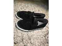 New! Next Girls Black Slip on Shoes
