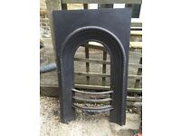 Cast iron Victorian style fireplace insert and surround