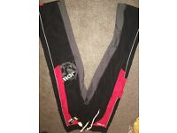 BRAND NEW JOBE WATERSPORTS BLACK AND RED MENS TROUSERS