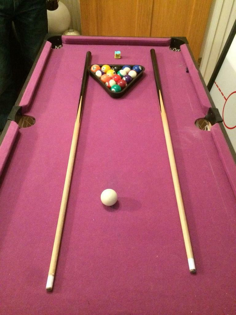 Three in one: Pool Table, Table Tennis and Ice Hockey