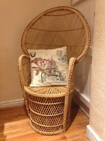 Large Wicker Peacock Chair