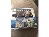 PS4 slim with 4 games, 2 brand new