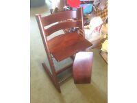 Stoke Tripp Trapp Chair in RARE Mahogany colouring x 2