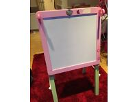 ELC Pink Easel with whiteboard and chalk board