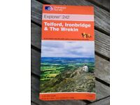 AS NEW Ordnance Survey OS Explorer 1:25000 1:25,000 Map 242 Telford, Ironbridge & The Wrekin