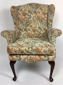 High Wing Back Easy Chair Fireside Chair - Large Armchair