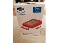 LaCie Rugged 2TB Thunderbolt & USB 3.0 Portable 2.5 inch External Hard Drive