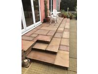 GARDEN SLABS DUE TO NEW LAYOUT. ANY REASONABLE OFFER