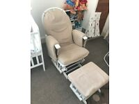 Rocking chair with stool