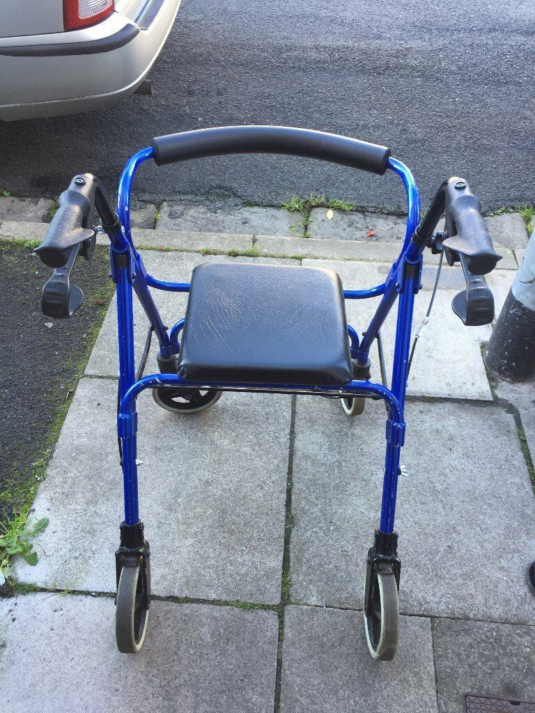 Blue 4 Wheeler Disability Walker