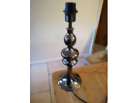Pewter table lamp base x 2.