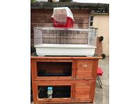 Bundle rabbit hutch, cage, carrier