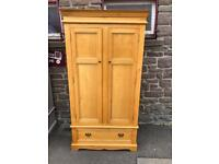 Solid oak wardrobe* free furniture delivery *