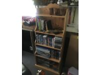 Pine Waterfall Bookcase