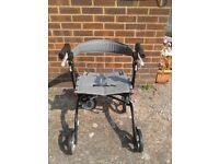 Drive Nitro Rollator Lightweight & foldable, puncture proof wheels, includes bag
