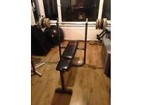 *BENCH PRESS & WEIGHTS FOR SALE!*£85 FOR EVERYTHING!*OFFERS WILL BE CONSIDERED!*