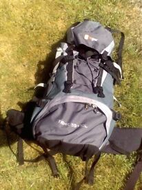 Hi Gear Tibet 55l + 10l rucksack, ideal for hiking / Duke of Edinburgh awards