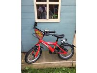Red Dawes 16 inch wheel bike. Excellent condition no tyre wear.
