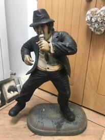 Unusual Large Blues Brothers Jake Signing Large Statue