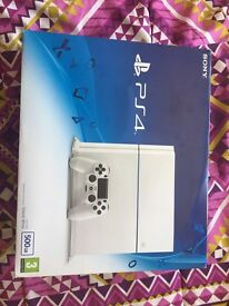 Brand new boxed PlayStation 4 glacier colour