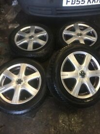 Genuine Topy Blows Delia Mult fit Set of 4 alloy wheels with 4 good tyres