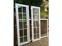 PVC double glazed doors with frame