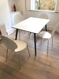 John Lewis Luna Kitchen Table & 4 Matching Dining Chairs