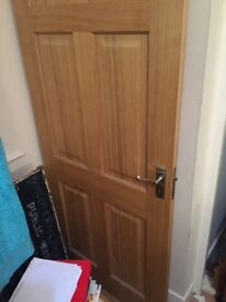 Solid oak door internal