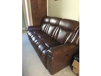 Sofa and Armchair in pristine condition - only 4 months old.- hardly used