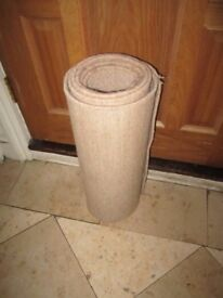Large beige good quality carpet runner in good condition