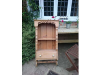 Antique pine wall cabinet