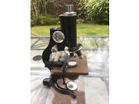 Old Laboratory Microscope