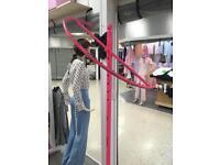 Retail clothes pink rails