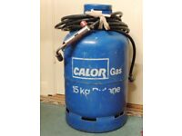 Calor Gas Bottle, 15kg Butane & Burner, Including 8mt Hose, CO13 Area.