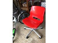IKEA Snille Swivel Chairs - 2 in Red & Pink