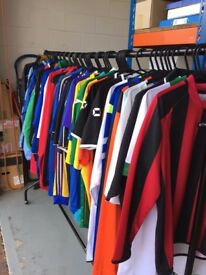 Joblot Mens Football Tops and Training Tops and Jackets Brand New