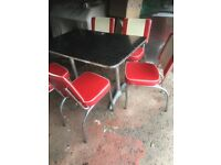 American diner table and chairs