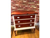 BEAUTIFUL RESTORED CHEST OF DRAWERS - HEAVY - CAN DELIVER