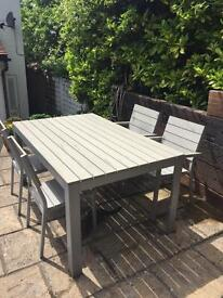 Ikea Falster outdoor furniture table and 4 chairs