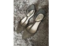 KHAKI T-Bar Dolly Shoes