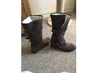 Red or Dead leather boots Size 6