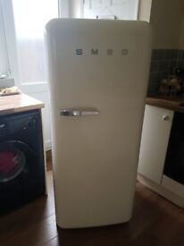 Cream smeg fridge