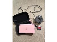 Nintendo DS lite in baby pink. Comes with charger, case and 1 game