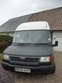 Matt Black and White LDV Convoy Minibus Campervan Conversion, 1997, LWB